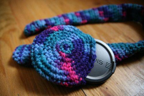 crochet camera strap