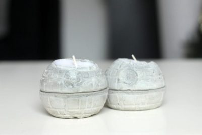 Concrete Death Stars DIY Candle holders