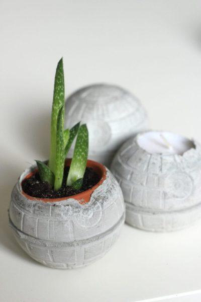 Concrete Death Stars DIY