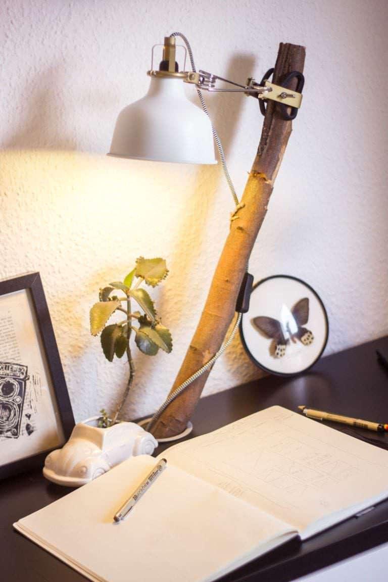 ikea hack micke desk lamp we must be dreamers. Black Bedroom Furniture Sets. Home Design Ideas