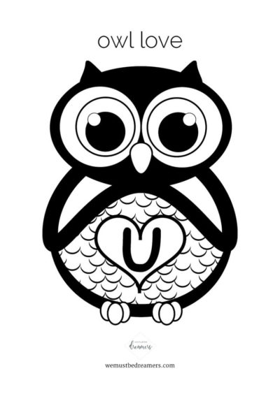 Valentine´s Day card owl love u