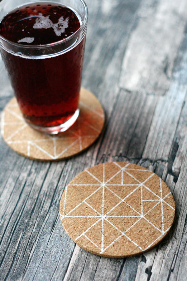 Avskild Cork Coasters DIY