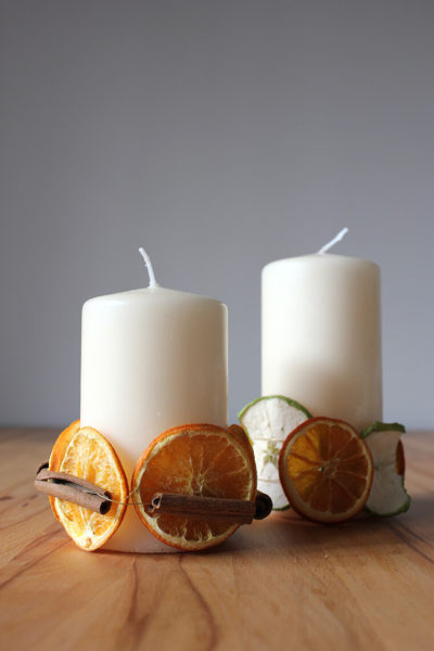 Christmas Candles DIY