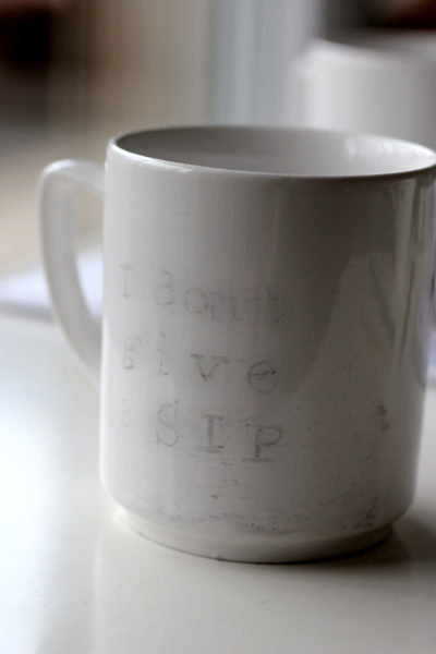 diy painted mugs